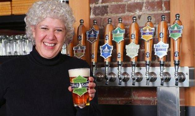 An undated image of Irene Firmat in the Full Sail Brewery taken in Hood River, Ore. (AP Photo/Lynn Howlett Photography/Full Sail Brewing Company)