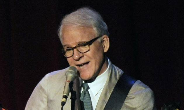 "FILE - In this March 19, 2010 file photo, Steve Martin performs with the Steep Canyon Rangers band at Largo at the Coronet Theatre in Los Angeles. Martin is set to perform from the U.S. Capitol's west lawn during the annual ""A Capitol Fourth"" concert this year. Josh Groban, Little Richard, ""Glee"" star Matthew Morrison, ""American Idol"" winner Jordin Sparks and Broadway star Kelli O'Hara also share the bill.is set to perform from the U.S. Capitol's west lawn during the annual ""A Capitol Fourth"" concert this year. Josh Groban, Little Richard, ""Glee"" star Matthew Morrison, ""American Idol"" winner Jordin Sparks and Broadway star Kelli O'Hara also share the bill. (AP Photo/Chris Pizzello, File)"