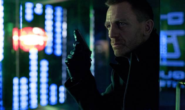 """FILE - This publicity film image released by Columbia Pictures shows Daniel Craig as James Bond in the action adventure film, """"Skyfall."""" (AP Photo/Sony Pictures, Francois Duhamel, File)"""