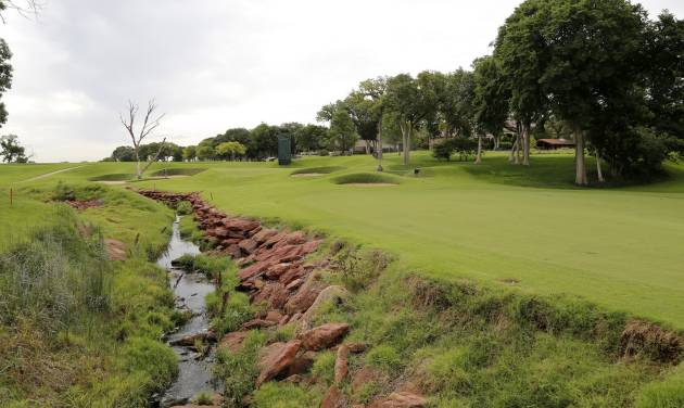 Fairway leading to the 7th green. Oak Tree National golf course in Edmond, site of the 2014 U.S. Senior Open,Tuesday, July 1, 2014. Photo by Doug Hoke, The Oklahoman