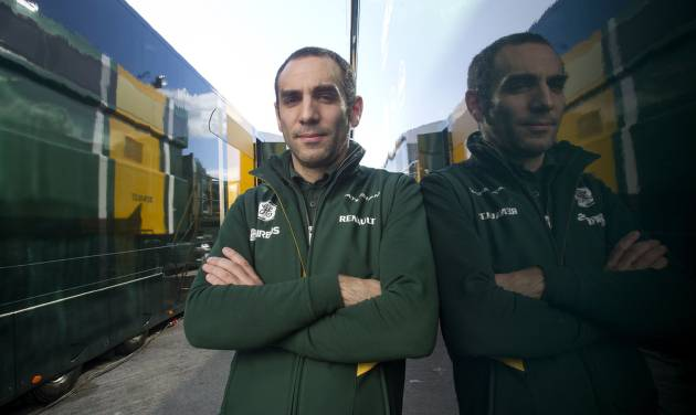 """Cyril Abiteboul, Caterham team principal poses for a picture during the 2014 Formula One Testing at the Circuito de Jerez on Thursday, Jan. 30, 2014, in Jerez de la Frontera, Spain. Formula One's sweeping rule changes may be behind defending champion Red Bull's dismal start to the preseason, but the more modest teams on the circuit don't see the makings of a major power shift. Abiteboul said he supported the move to push innovation in F1 so that it could continue its mission of """"preceding the automobile industry.""""(AP Photo/Miguel Angel Morenatti)"""