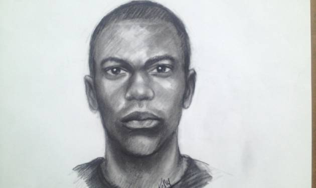 This image provided by Clayton County Police Department shows a sketch of one of two men suspected of abducing a 14 year old girl during a home invasion in Jonesboro, Ga.  Police early Tuesday, Sept. 17, 2013 were stopping cars and checking them during an all-out search for the girl. The two men pried open a back door of the home in the Ellenwood area around 2:15 a.m. Tuesday, Clayton County police said. The home invaders demanded money and jewelry, Clayton County police Officer Phong Nguyen said. When the woman said she didn't have any, one of the men shot and killed the family dog, he said. Police say the men then took 14-year-old Ayvani Hope Perez, who is 4 feet, 9 inches tall and 93 pounds. She's described as Hispanic, with brown eyes and black hair. She was wearing blue and grey Star Wars pajama bottoms and a blue and grey super hero shirt. The girl was last seen being taken from the home in a grey Dodge, police said.  (AP Photo/Clayton County Police Department)
