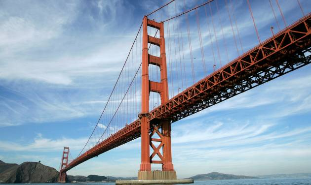 FILE - In this file photo from Nov. 15, 2006, the Golden Gate Bridge is shown in San Francisco. On Friday, June 27, 2014, Golden Gate Bridge officials are expected to approve a funding package for a $76 million suicide barrier. (AP Photo/Eric Risberg, File)