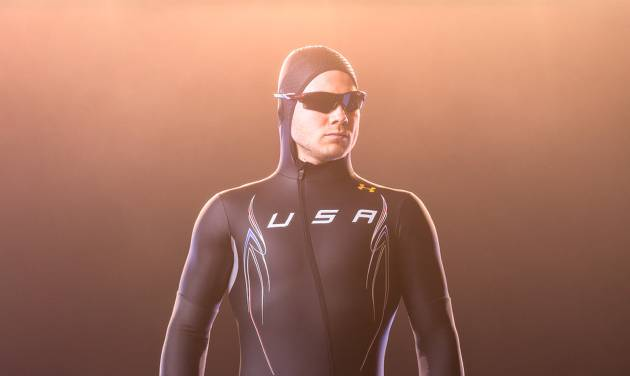 This undated image provided by Under Armour shows the  Mach 39 suit for the U.S Olympic speedskating team. The U.S. speedskating team blamed its poor performance at the games at least in part on their Mach 39 suits that were developed by Under Armour and touted as the world's fastest speedskating suits. (AP Photo/Under Armour)