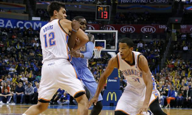 The Thunder's Andre Roberson has been recalled back to Oklahoma City after spending four games with the Tulsa 66ers.  Photo by Bryan Terry, The Oklahoman