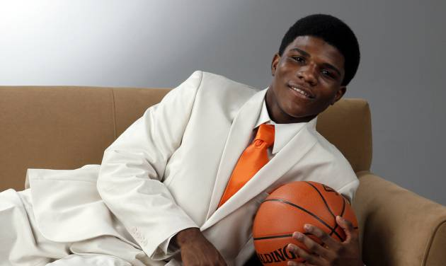 Stephen Clark of Douglass High School, The Oklahoman's Super 5 and Little All-City boys high school basketball player of the year, photographed at the OPUBCO studio in Oklahoma City, Wednesday, March 28, 2012. Photo by Nate Billings, The Oklahoman
