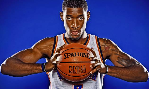 Perry Jones during Thunder Media Day photos on Monday, Oct. 1, 2012, in Oklahoma City, Oklahoma.  Photo by Chris Landsberger, The Oklahoman