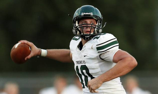 Norman North quarterback David Cornwell had knee surgery last week.  Photo by Nate Billings, The Oklahoman
