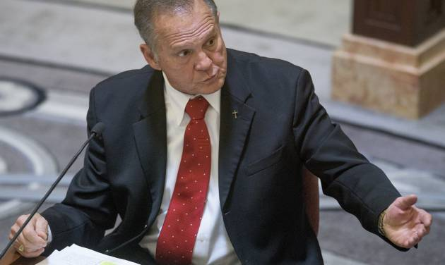 Moore goes before ethics panel on gay marriage order
