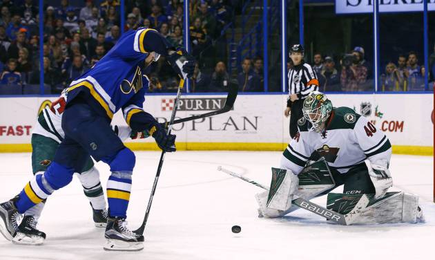 Schwartz, Blues beat Wild 4-3 in shootout