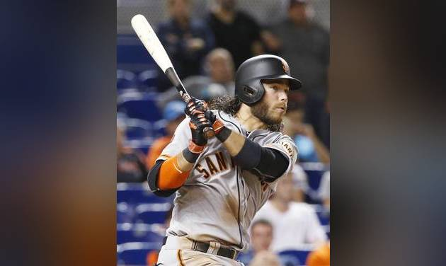 Crawford, Giants blanked 2-0 in loss to Marlins