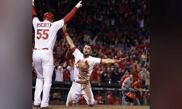 Cardinals win on disputed double