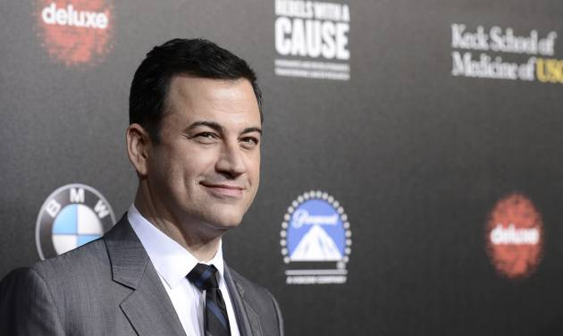 Jimmy Kimmel jokes about being tapped to host Oscars