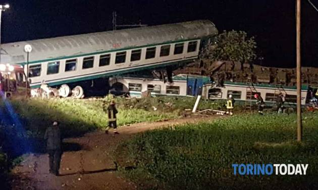 Two dead, several injured after train hits truck in northern Italy