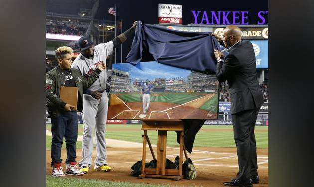 Yankees honor Ortiz, then defeat Red Sox