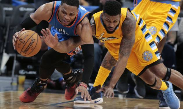 Russell Westbrook flirts with another triple-double in Thunder defeat
