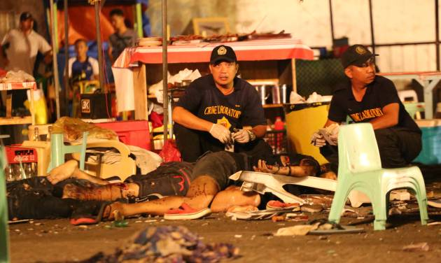 Philippine blast leaves 12 dead, 67 wounded in market