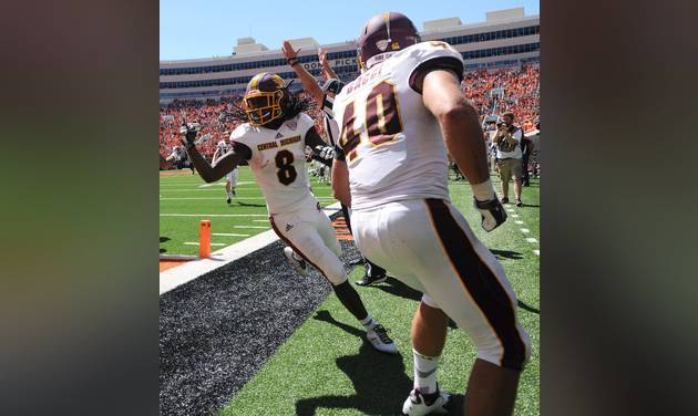 Central Michigan-Oklahoma State Game officials suspended after a wrong call