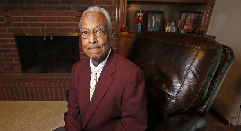 Dr. Frank Wilson III is shown Friday at his home in Edmond. In 1967, Wilson was the first...