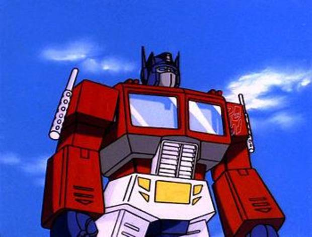 "Optimus Prime in the ""Transformers"" cartoon."