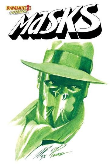 "The Green Hornet, as seen on a limited edition cover of ""Masks,"" painted by Alex Ross. Dynamite. <strong></strong>"