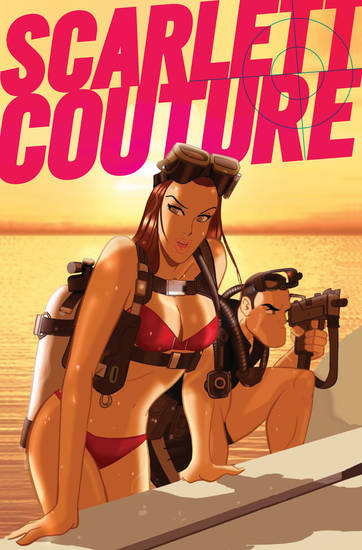 "The cover to ""Scarlett Couture"" No. 1. Titan Comics."