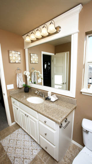 Master bath in the Ideal Homes model at 11424 NW 131.