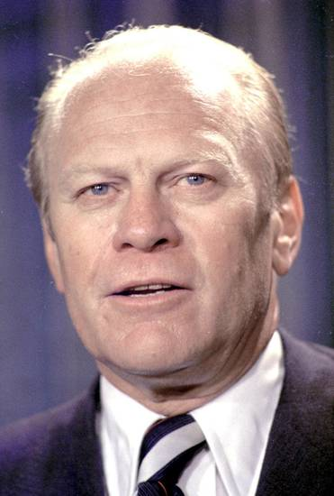 Former President Gerald R. Ford is seen in this August 10,1974,  file photo. AP PHOTO