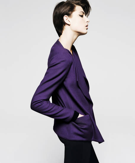Akris jewel-toned jacket from Balliets, Classen Curve.