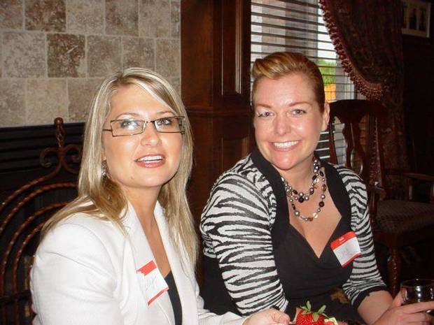 Mindy Gasspari, Sonja Smith enjoyed the Edmond Women's Club event.   (Photo provided).
