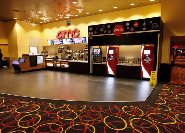 A look inside the remodeled lobby and concession counter at he AMC theater at Penn Square Mall. <strong>PAUL B. SOUTHERLAND - PAUL B. SOUTHERLAND</strong>