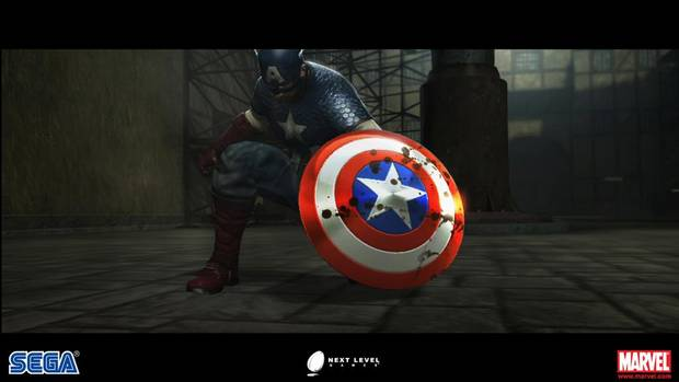 Screenshot from the upcoming Captain America video game.