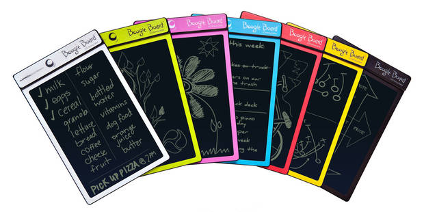 Boogie Board LCD Writing Tablet With Stylus is an electronic scratch pad that can help you take notes, paperless. PHOTO PROVIDED. <strong></strong>