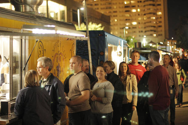 People gather in the  N Hudson Avenue and  8th Street area for last year's  H&8th street market event. Photo by Doug Hoke, The Oklahoman Archives <strong>Doug Hoke - THE OKLAHOMAN</strong>