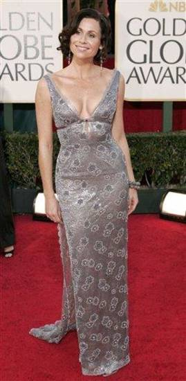 Minnie Driver arrives for the 62nd Annual Golden Globe Awards on Sunday, Jan. 16, 2005, in Beverly Hills, Calif. (AP Photo/Mark J. Terrill)