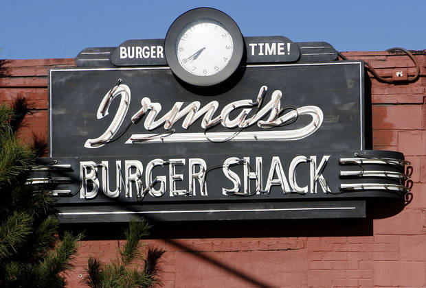 This is the sign for Irma's Burger Shack restaurant in Oklahoma City, Okla., Thursday, December 7, 2006. Photo by Paul Hellstern / The Oklahoman. ORG XMIT: KOD