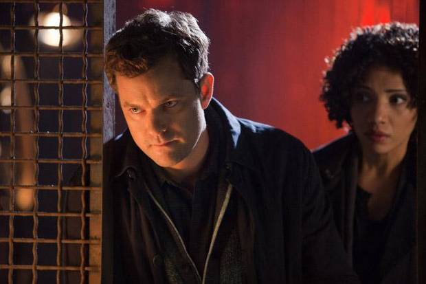 Joshua Jackson and Jasika Nicole in &quot;Fringe&quot; - Fox Photo