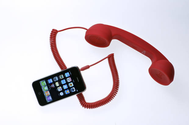 The POP phone from Native Union gives your device a retro-looking headset for conversations. PHOTO PROVIDED. <strong></strong>