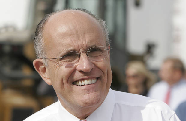 Former New York City Mayor Rudy Giuliani  AP PHOTO <strong>Charlie Neibergall</strong>