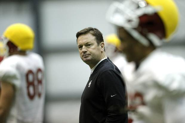 Bob Stoops says it doesn't matter what former OU players say about the current state of the program. Photo by Sarah Phipps, The Oklahoman