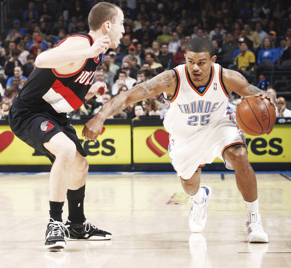 Earl Watson missed his first game of the season Saturday at Phoenix.  Photo by Nate Billings, The Oklahoman
