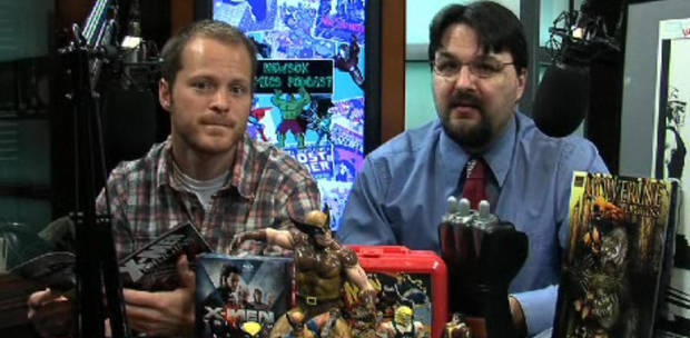 Kyle Roberts and Matt Price - not afraid to read comics in public. Or on video.