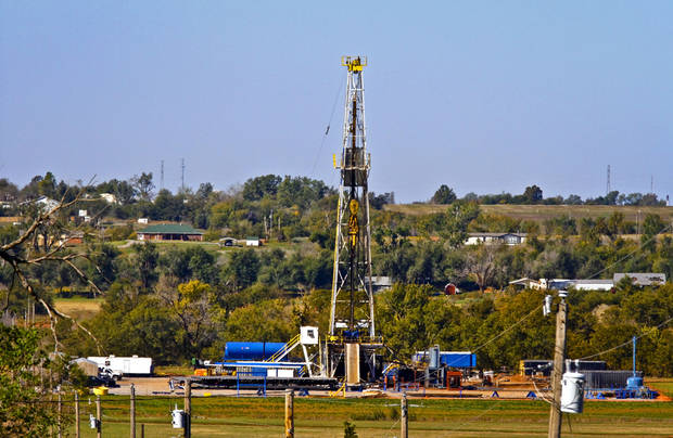Continental Resources rig site in Chickasha, Okla., Friday, Oct. 19, 2012. Photo by Chris Landsberger, The Oklahoman