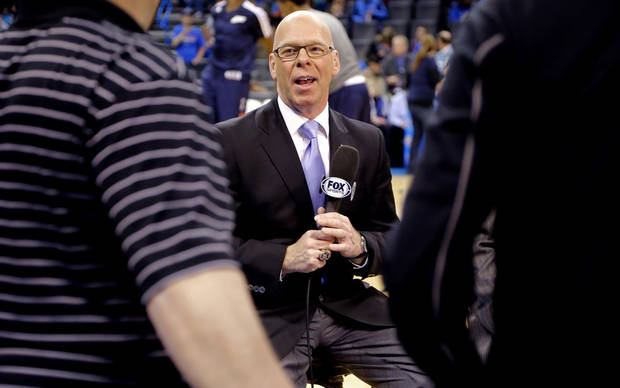 Who will join Thunder play-by-play announcer Brian Davis on TV this upcoming season? Photo by Chris Landsberger, The Oklahoman