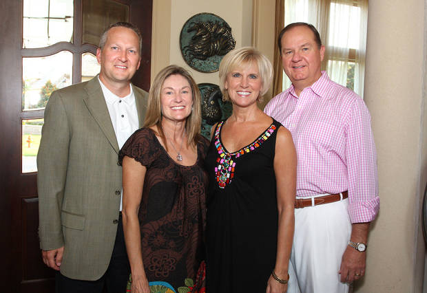 Chris and Julie Hammes, Donna and Bruce Lawrence. PHOTO BY DAVID FAYTINGER, FOR THE OKLAHOMAN <strong></strong>