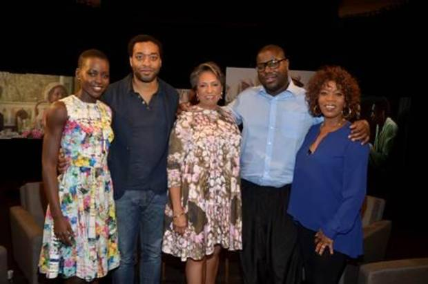 From left, Lupita Nyong'o, Chiwetel Ejiofor, Cathy Hughes, Steve McQueen and Alfre Woodard - Provided Photo