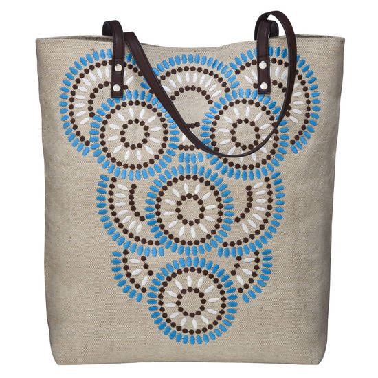 Calypso St. Barth for Target embroidered canvas tote.
