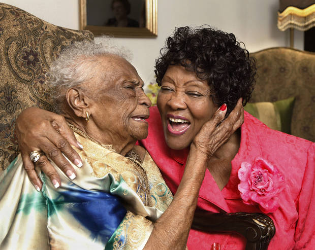 Ruth Benford, 78, right, recently received her degree from the University of Phoenix.  She spends some of her time with her good friend, 96 year-old Ethel Wilcox. <strong>Jim Beckel - THE OKLAHOMAN</strong>