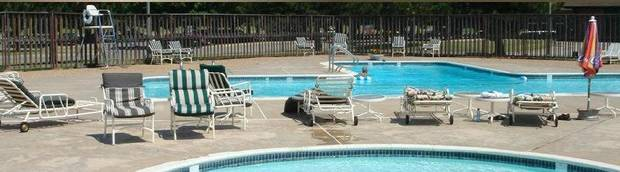 A view of the pool area at Westbury Country Club, which will be auctioned Nov. 1. <strong> - PROVIDED</strong>