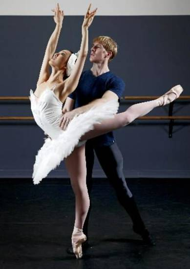 "Nao Kusuzaki and Christopher Coomer  will appear in the Oklahoma City Ballet production of "" Swan Lake."" Photo by Bryan Terry, The Oklahoman"